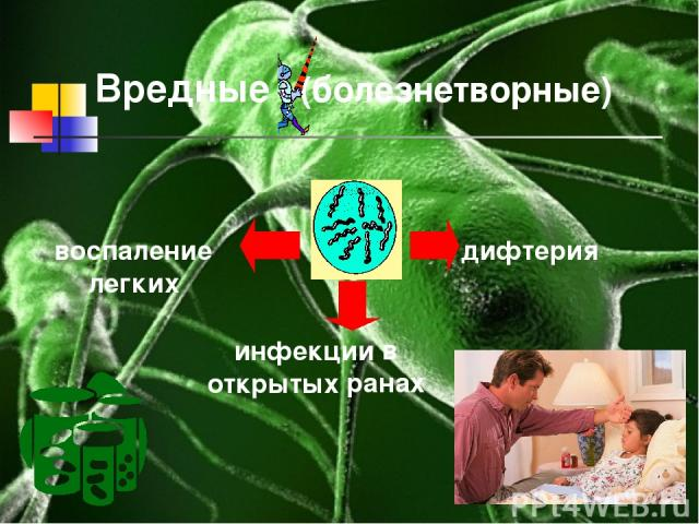 Вредные (болезнетворные) воспаление легких дифтерия инфекции в открытых ранах