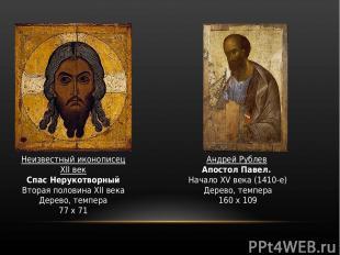 Неизвестный иконописец XII век Спас Нерукотворный Вторая половина XII века Дерев
