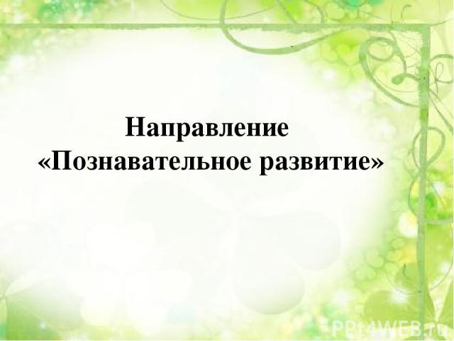 Направление «Познавательное развитие»