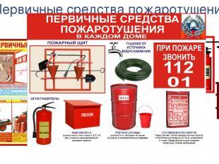 Первичные средства пожаротушения