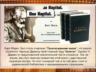 """Карл Маркс был столь очарован """"Происхождением видов"""", что решил посвятить Чарльз"""