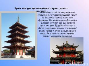 Архітектура далекосхідного культурного регіону Для східного світогляду важливо у