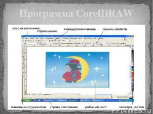 Программа CorelDRAW имеет стандартный оконный интерфейс