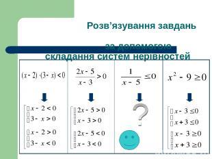 Розв'язування завдань за допомогою складання систем нерівностей