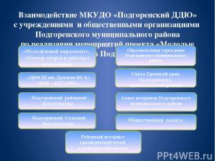 Взаимодействие МКУДО «Подгоренский ДДЮ» с учреждениями и общественными организац
