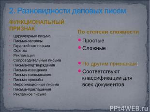 Циркулярные письма Письма-запросы Гарантийные письма Оферта Рекламация Сопроводи