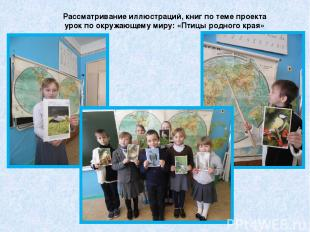 Рассматривание иллюстраций, книг по теме проекта урок по окружающему миру: «Птиц