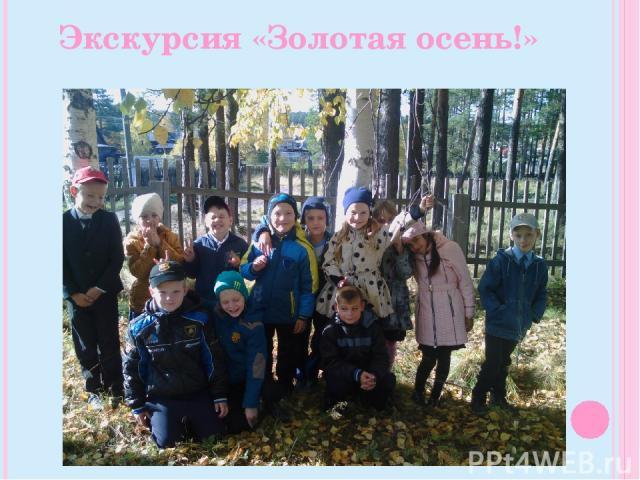 Экскурсия «Золотая осень!»