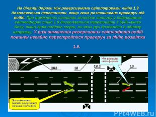 На ділянці дороги між реверсивними світлофорами лінію 1.9 дозволяється перетинат