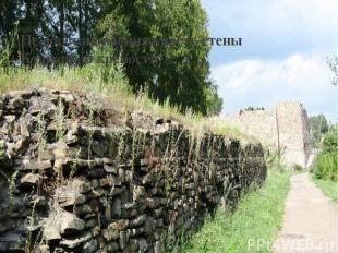 Не восстановленная часть стены Кузнецкой крепости Дорога к крепости
