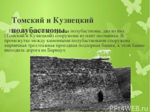 Томский и Кузнецкий полубастионы. На углах крепости устроены полубастионы, два и