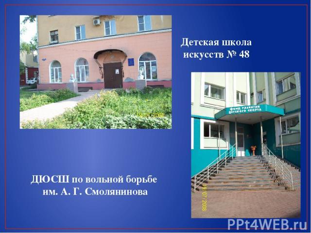 Детская школа искусств № 48 ДЮСШ по вольной борьбе им. А. Г. Смолянинова