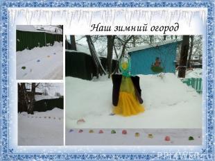 Наш зимний огород