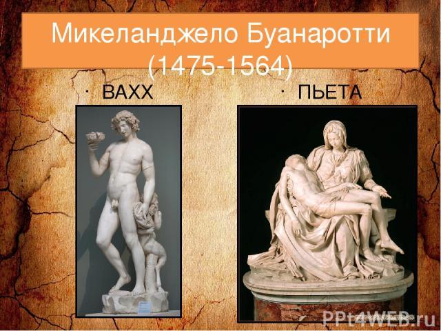 Микеланджело Буанаротти (1475-1564) ВАХХ ПЬЕТА