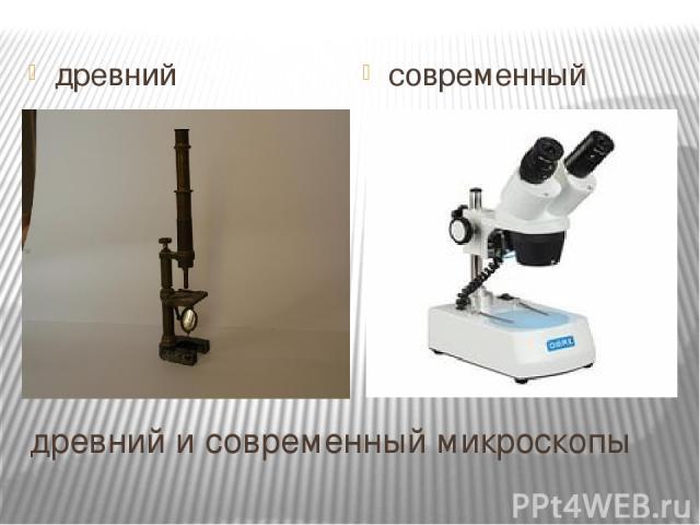 древний и современный микроскопы древний современный