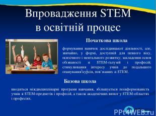 2 3 Впровадження STEM в освітній процес Початкова школа формування навичок дослі