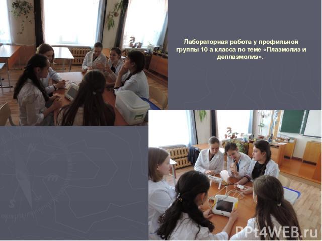 Лабораторная работа у профильной группы 10 а класса по теме «Плазмолиз и деплазмолиз».