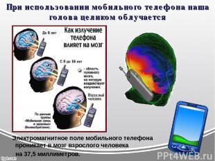 При использовании мобильного телефона наша голова целиком облучается Электромагн