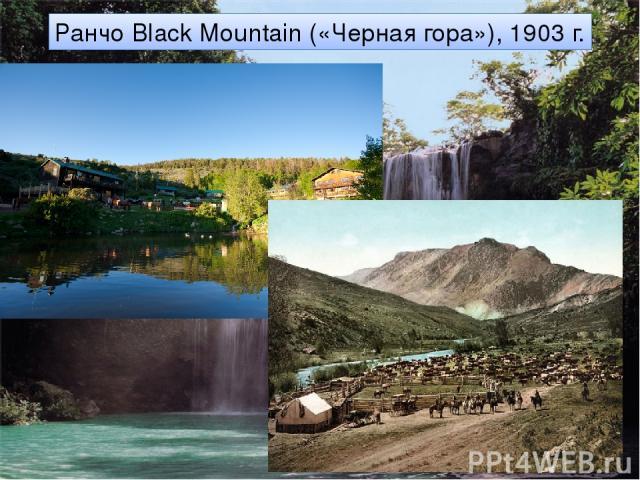 Ранчо Black Mountain («Черная гора»), 1903 г.