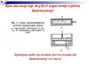 Артериальды пульстің пьезоэлектрлік датчиктер схемасы Қан тамырлар жүйесі параме