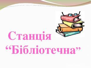 """Станція """"Бібліотечна"""""""