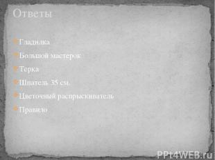Гладилка Большой мастерок Терка Шпатель 35 см. Цветочный распрыскиватель Правило