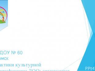 Практики культурной идентификации ДОО: организация мини-музеев в ДОУ МАДОУ № 60