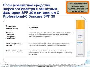 Солнцезащитное средство широкого спектра с защитным фактором SPF 30 и витамином