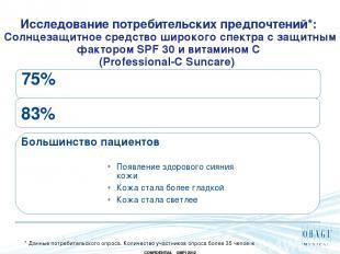 Исследование потребительских предпочтений*: Солнцезащитное средство широкого спе