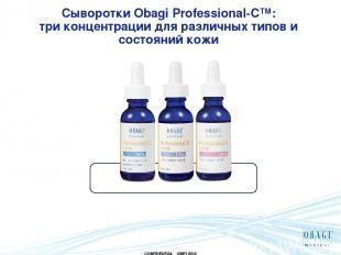 Сыворотки Obagi Professional-C™: три концентрации для различных типов и состояни