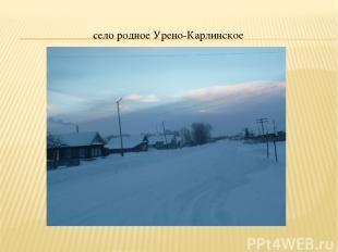 село родное Урено-Карлинское