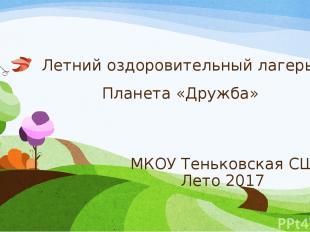 Летний оздоровительный лагерь Планета «Дружба» МКОУ Теньковская СШ Лето 2017