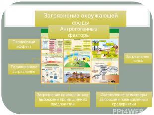 Загрязнение окружающей среды Загрязнение почвы Радиационное загрязнение Загрязне
