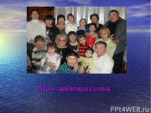 Моя любимая семья