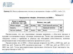Пример 3.1.Имеется финансовая отчетность предприятия «Альфа» за 2005 г. (табл.