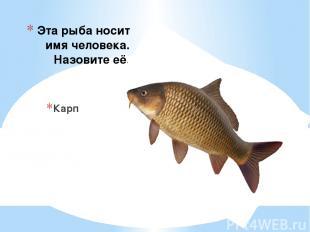 Эта рыба носит имя человека. Назовите её. Карп