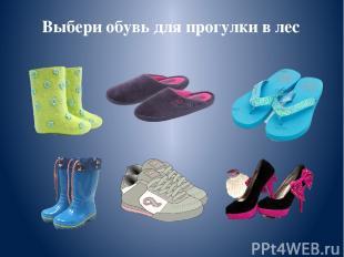 Выбери обувь для прогулки в лес
