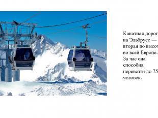 Канатная дорога на Эльбрусе — вторая по высоте во всей Европе. За час она способ