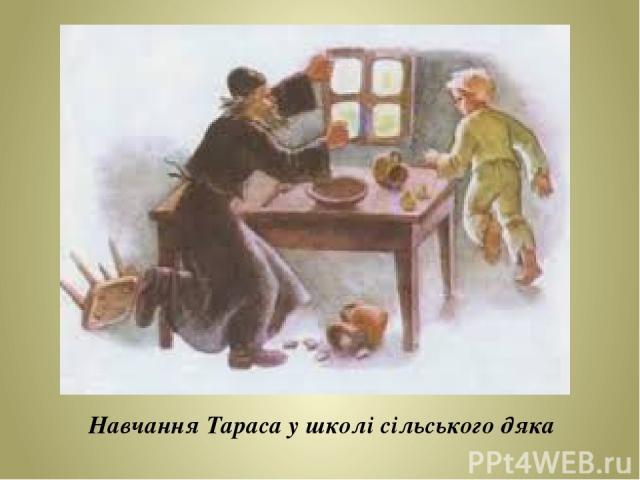Навчання Тараса у школі сільського дяка