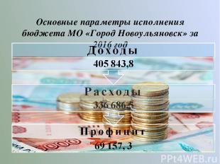 Основные параметры исполнения бюджета МО «Город Новоульяновск» за 2016 год