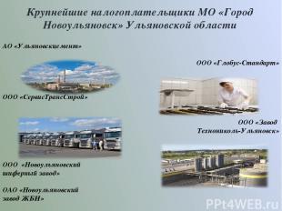 Крупнейшие налогоплательщики МО «Город Новоульяновск» Ульяновской области АО «Ул