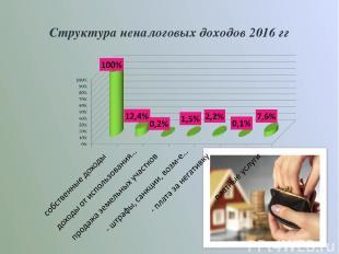 Структура неналоговых доходов 2016 гг