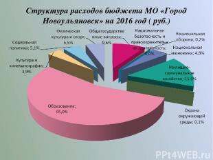 Структура расходов бюджета МО «Город Новоульяновск» на 2016 год ( руб.)