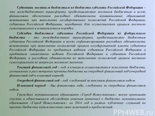 Субвенции местным бюджетам из бюджета субъекта Российской Федерации – это межбюд
