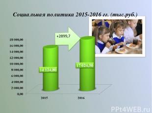 Социальная политика 2015-2016 гг. (тыс.руб.)