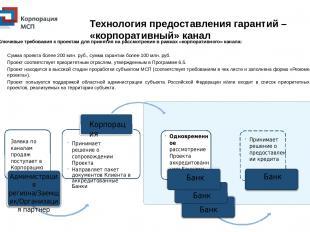 Технология предоставления гарантий – «корпоративный» канал Заявка по каналам про