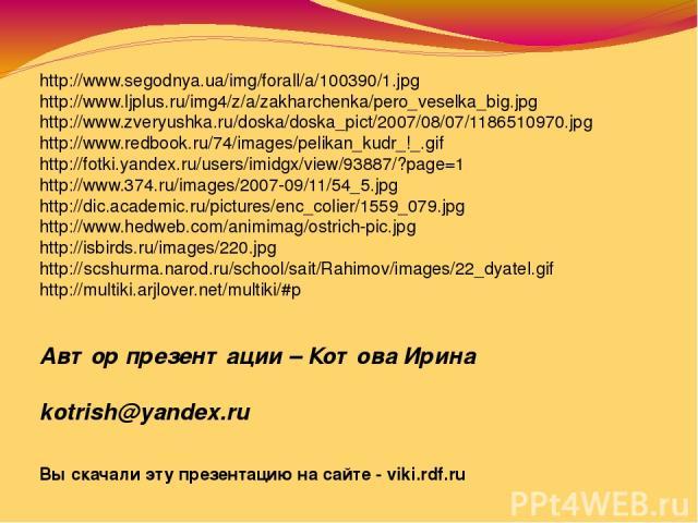 http://www.segodnya.ua/img/forall/a/100390/1.jpg http://www.ljplus.ru/img4/z/a/zakharchenka/pero_veselka_big.jpg http://www.zveryushka.ru/doska/doska_pict/2007/08/07/1186510970.jpg http://www.redbook.ru/74/images/pelikan_kudr_!_.gif http://fotki.yan…