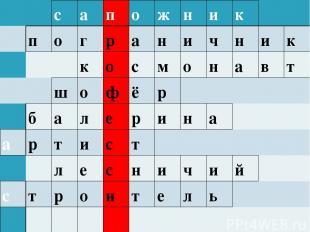 с а п о ж н и к п о г р а н и ч н и к к о с м о н а в т ш о ф ё р б а л е р и н