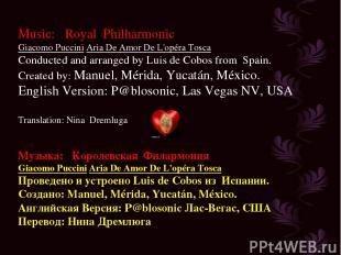 Music: Royal Philharmonic Giacomo Puccini Aria De Amor De L'opéra Tosca Conducte